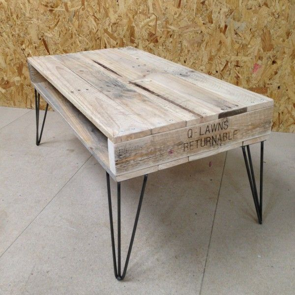 Table basse scandinave pieds metal