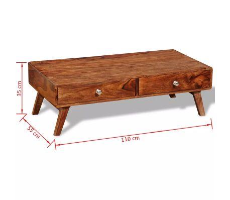 Table basse bois massif avec tiroir