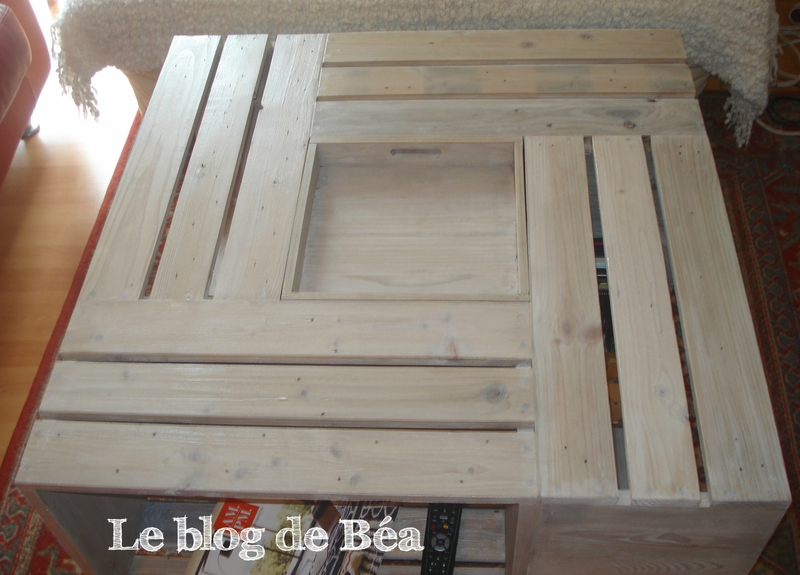 Table basse en palette longue - Boutique-gain-de-place.fr