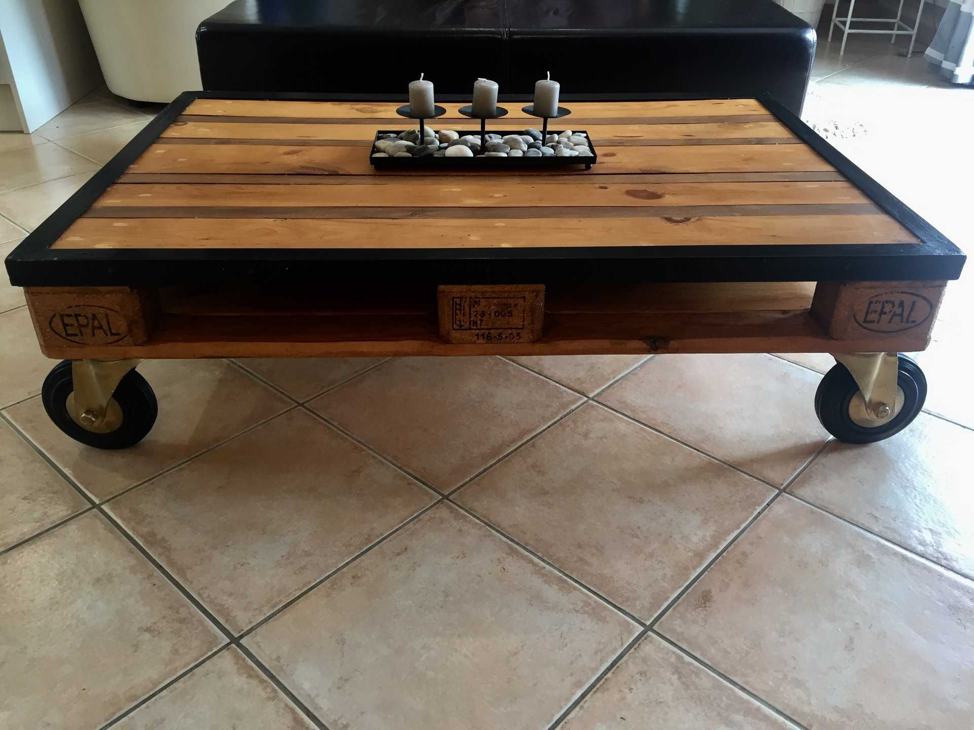 Table Basse Industriel En Palette Boutique Gain De Place Fr