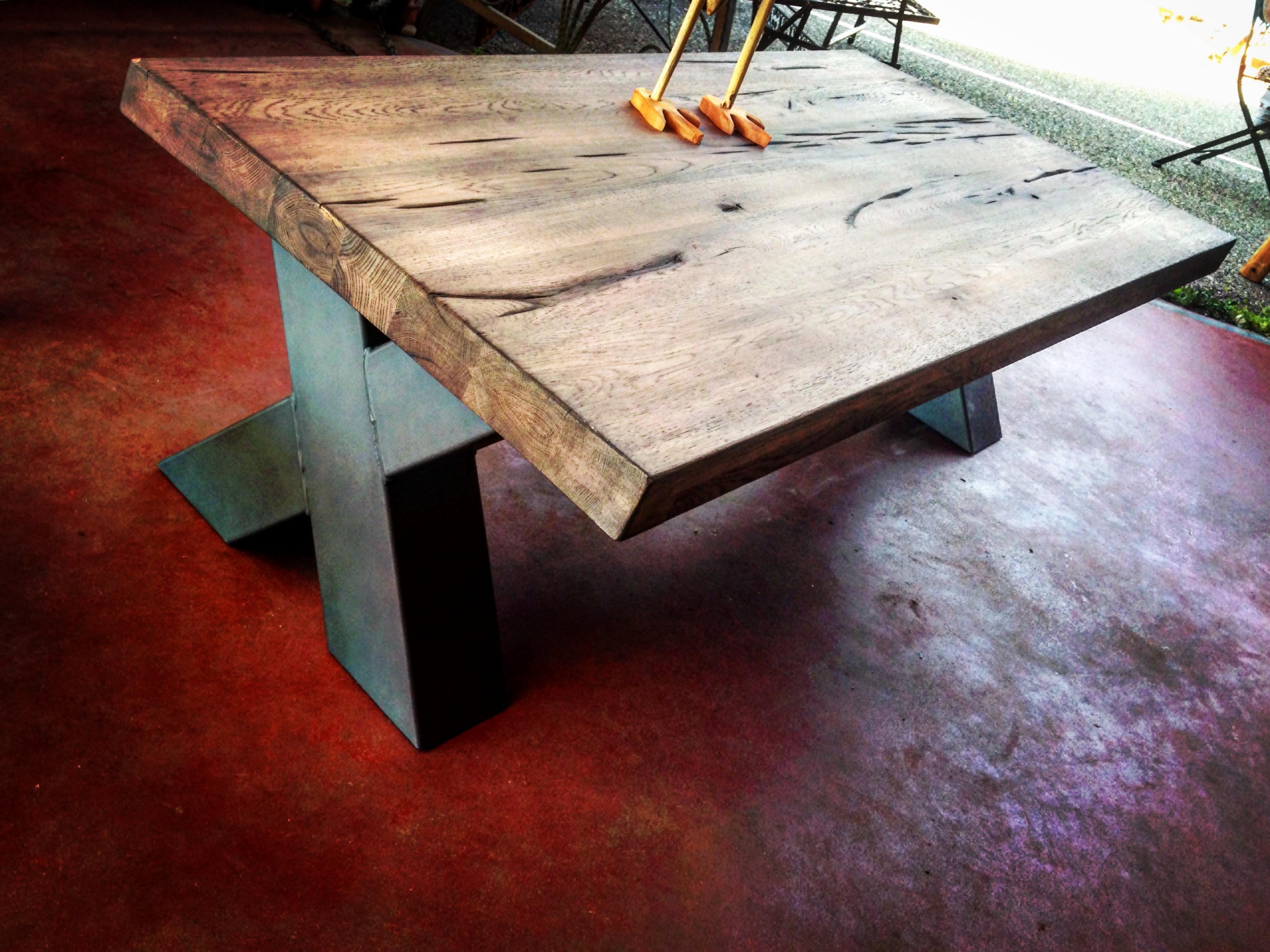 Table Basse Industrielle Lyon Boutique Gain De Place Fr