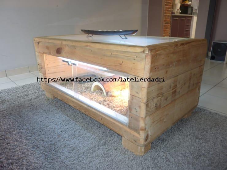 Table Basse Terrarium Palette Boutique Gain De Place Fr