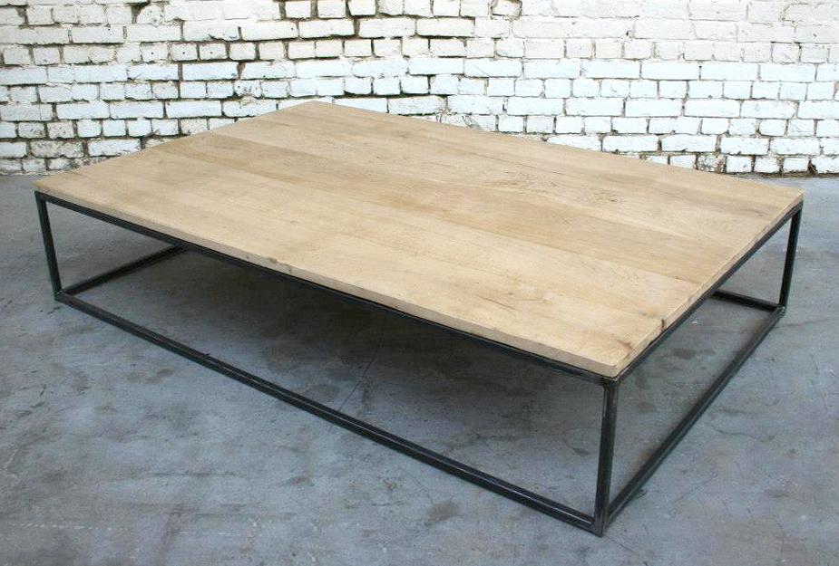 Gain Et Boutique Style De Basse Table Bois Industriel Metal TFl1J3Kc