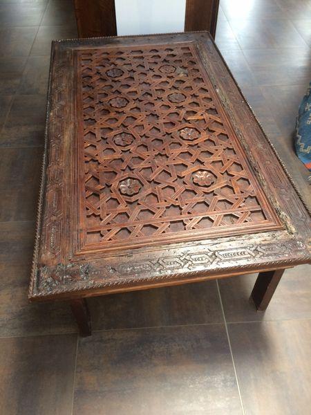 Gain Table Style Marocain Boutique De En Bois Basse myv0wOP8nN