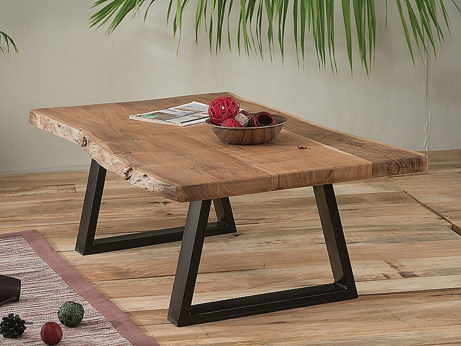 Table Basse Bois Brut Boutique Gain De Place Fr