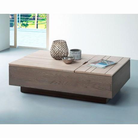 Table Basse Plateau Relevable Yana Blanc Et Béton Boutique Gain De