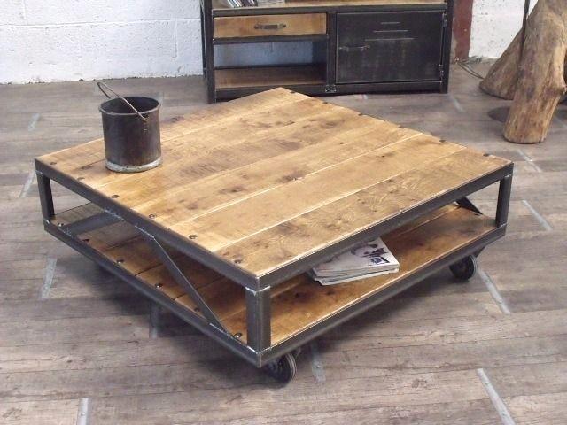 Attrayant Fabriquer Une Table Basse En Bois Et Metal