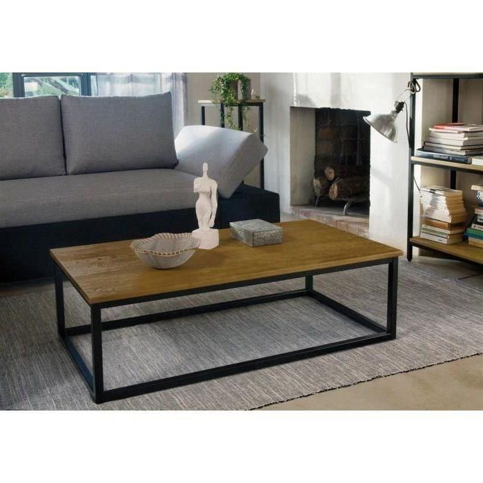 Table Basse Style Industriel Pas Cher Boutique Gain De