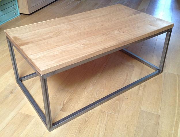 Fabriquer une table basse bois et metal boutique gain de - Fabriquer une table basse en bois ...