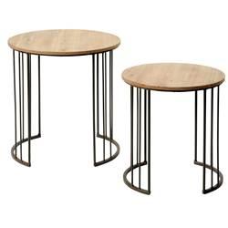 Table Basse Gigogne Casa Boutique Gain De Place Fr