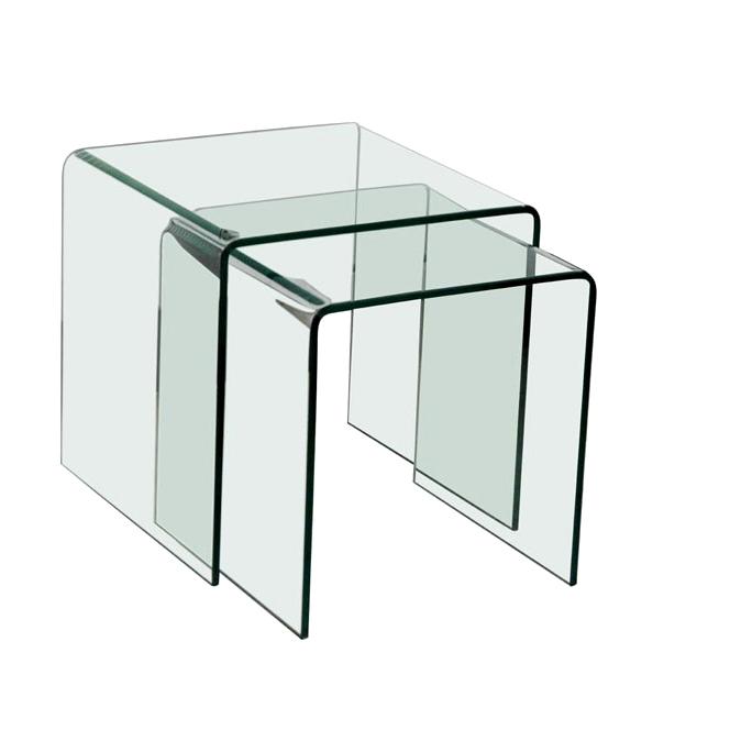 Table Basse Gigogne En Verre Boutique Gain De Place Fr