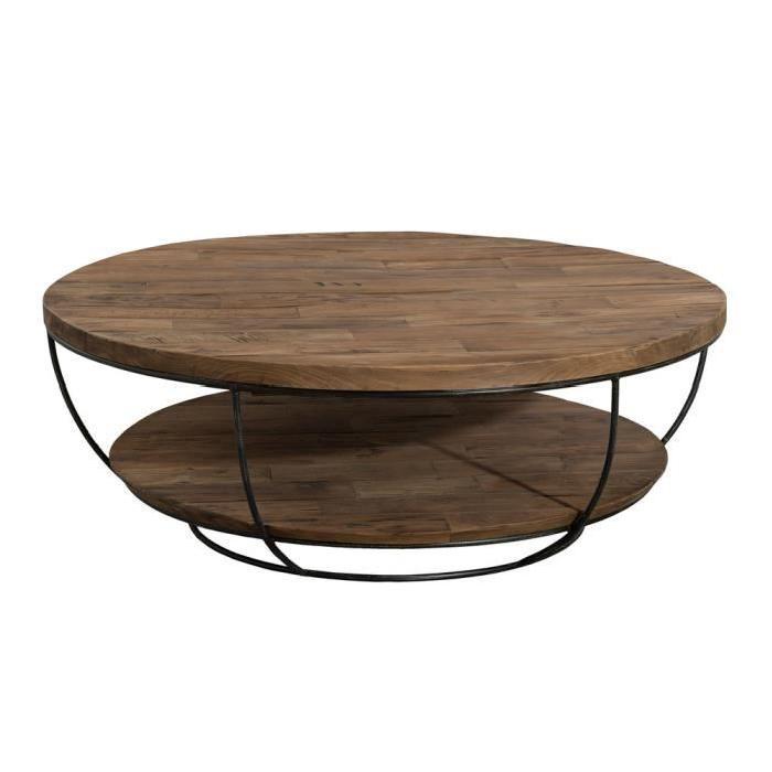 Table basse bois originale pas cher boutique gain de - Table basse ronde conforama ...
