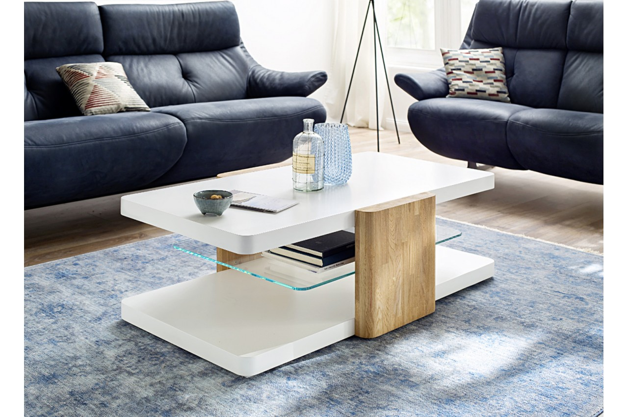 Design De Boutique Table Basse Blanc Bois Gain qpjSUzMVGL