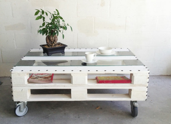 Idee Deco Table Basse Palette Boutique Gain De Place Fr
