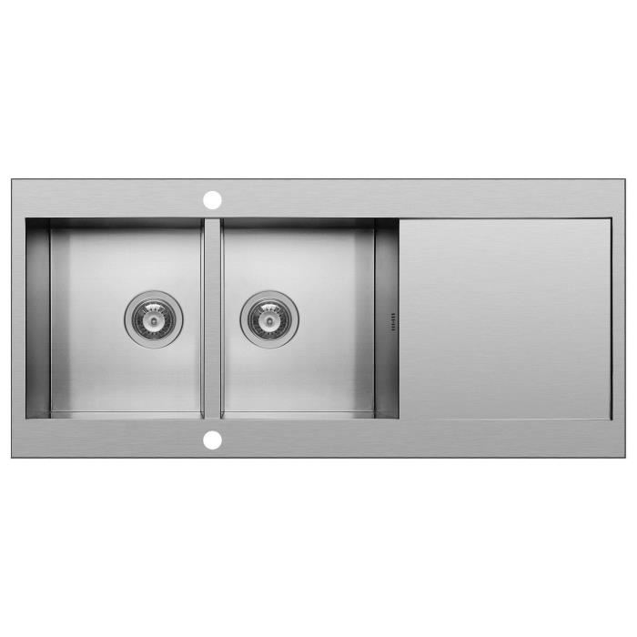 Evier 2 Bacs Inox Nid D Abeille