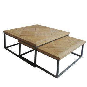 Table Boutique De Basse Bois Grande Et Metal Gain EIbeDHW29Y