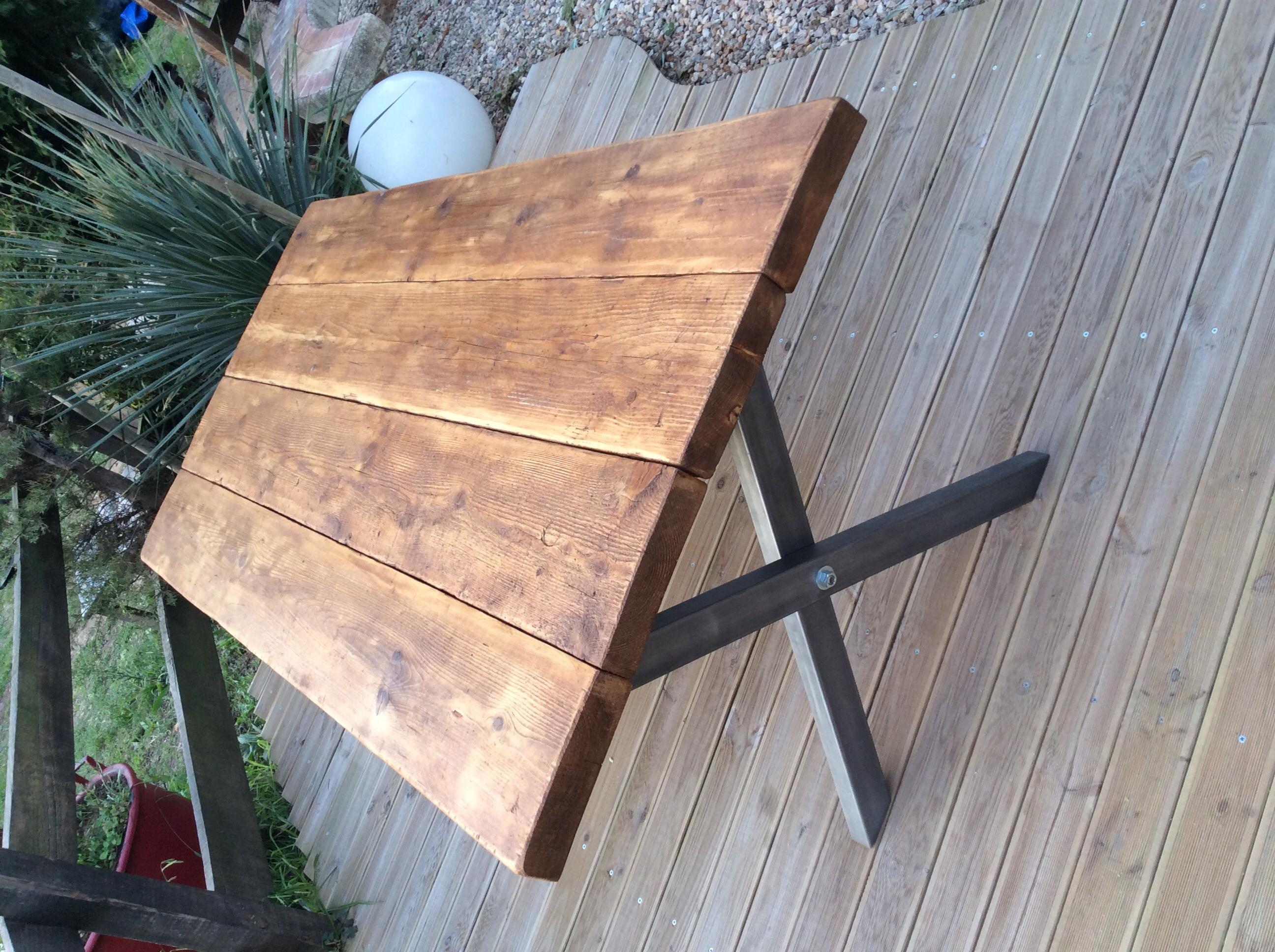 Merveilleux Fabriquer Une Table Basse En Bois Brut