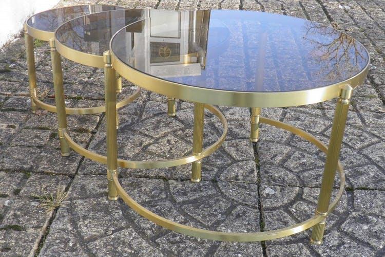 Table Basse Ronde Gigogne En Verre Boutique Gain De Place Fr
