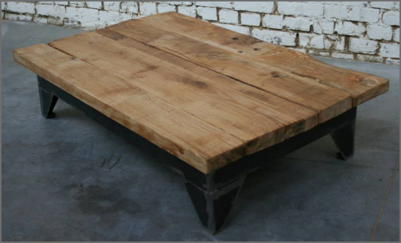Table Basse Bois Vintage.Table Basse En Bois Vintage Boutique Gain De Place Fr