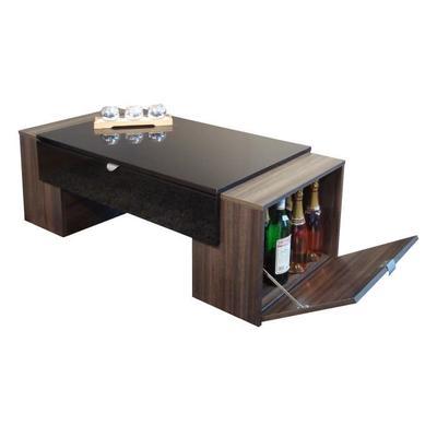 Table basse avec rangement pour bouteille - Boutique-gain-de-place.fr