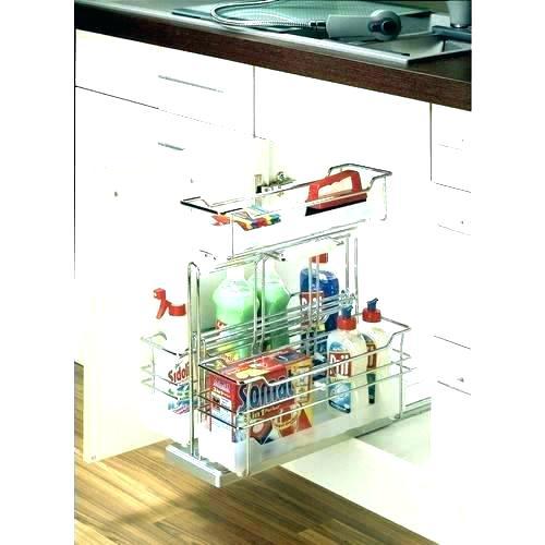 Rangement coulissant sous vier cuisine boutique gain de - Rangement sous evier cuisine ...