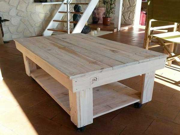 Table basse en palette bois - Boutique-gain-de-place.fr