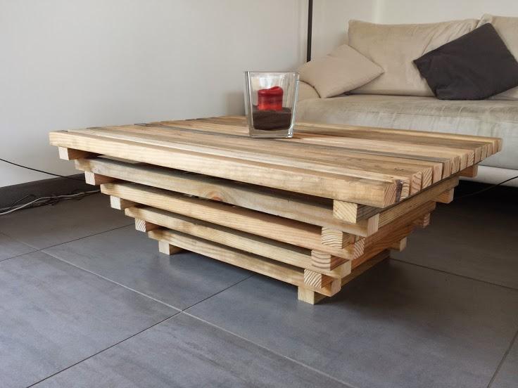 Table basse palette oeuvre boutique gain de - Modele table basse ...
