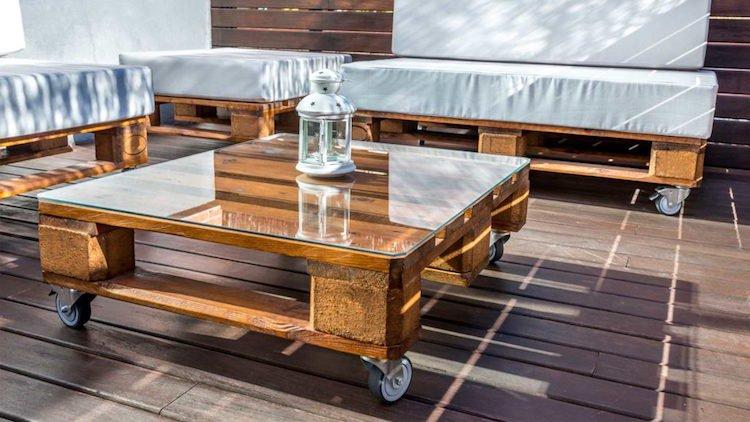 Fabriquer une table basse en palette exterieur - Boutique-gain-de ...
