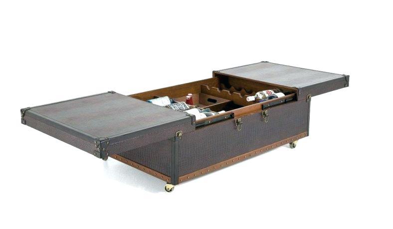 Table Basse Rangement Bar.Pero Table Basse Taupe Avec Rangement Pour Bar Integre