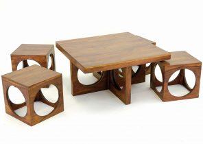 table basse relevable cube noyer extensible 12 couverts boutique gain de. Black Bedroom Furniture Sets. Home Design Ideas