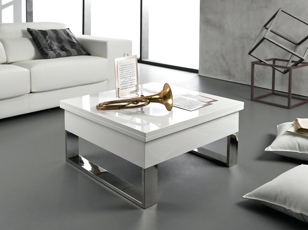 Table Basse Design Ellipse En Bois Laqué Blanc Et Verre