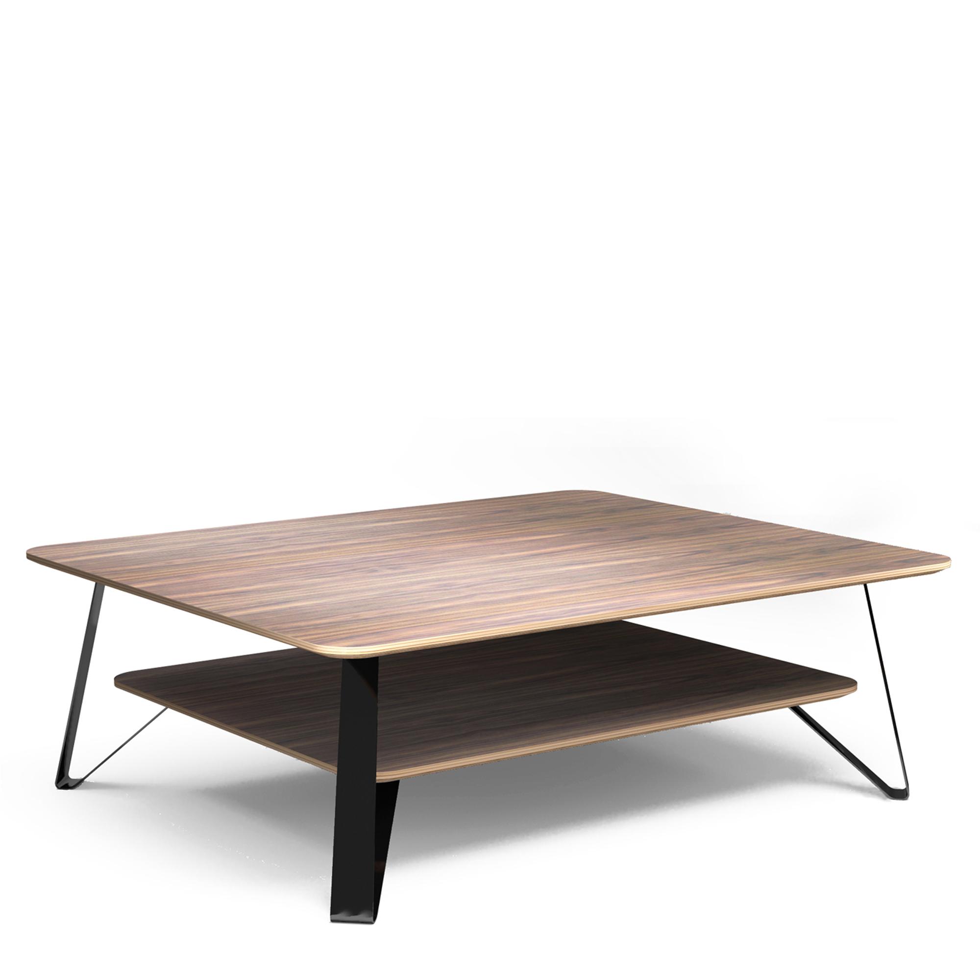 Table basse en bois et noir