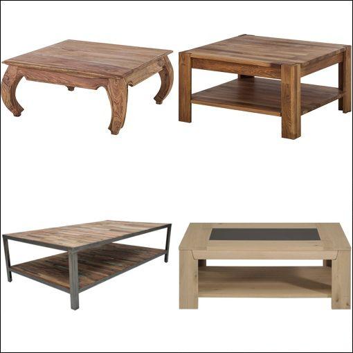 Table basse pas cher magasin boutique gain de - Table basse en bois pas cher ...