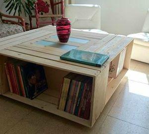 Cagette en bois table basse - Boutique-gain-de-place.fr