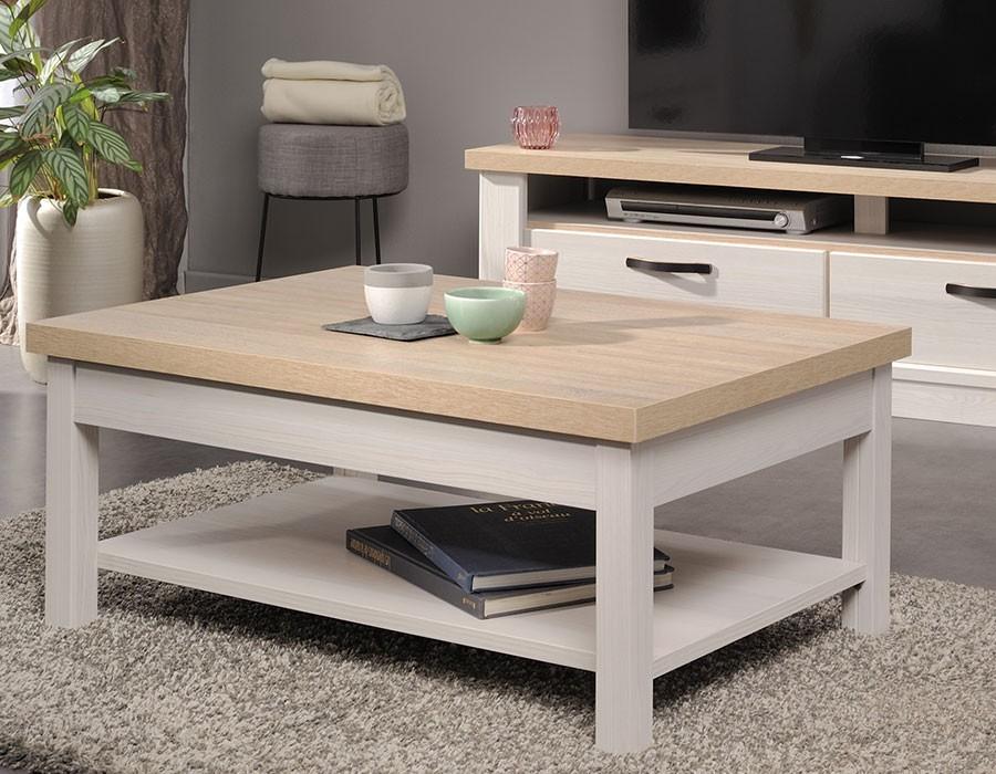 Table Et Clair Verre Bois Basse De Gain Boutique A4L35jR