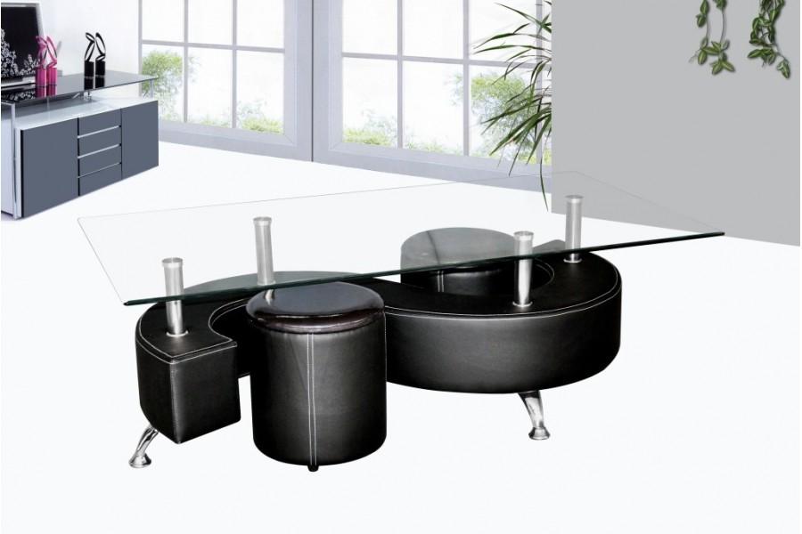 Deux Basse Avec Table En De Poufs Gain Verre Boutique 3AqjRL54
