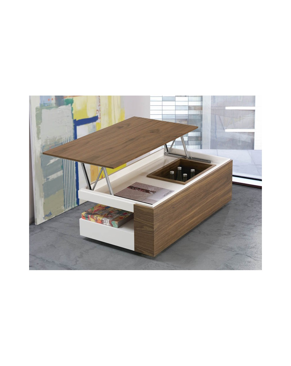 Table Basse Relevable Bar Boutique Gain De Place Fr