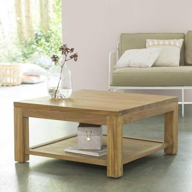 Table basse bois zen