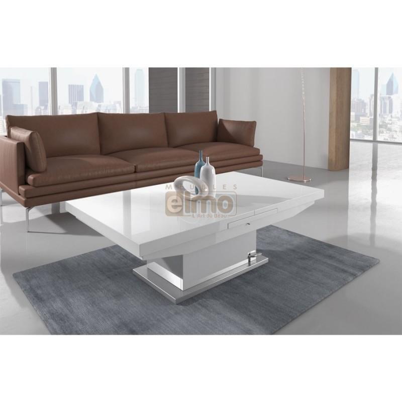 Extensible Boutique Gain Table Blanc Basse Relevable De OPk8nw0