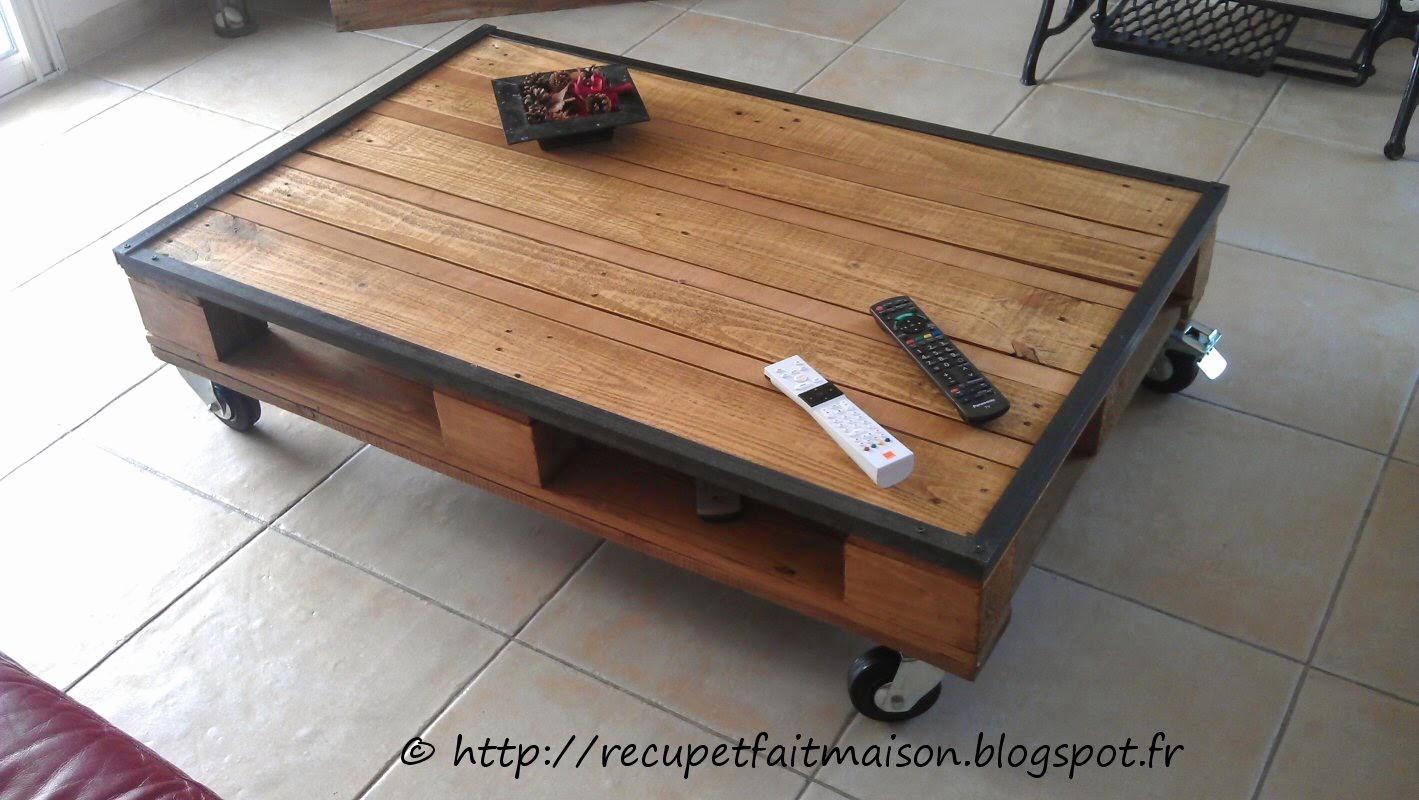 Table basse faite maison palette boutique gain de - Table basse fait maison ...