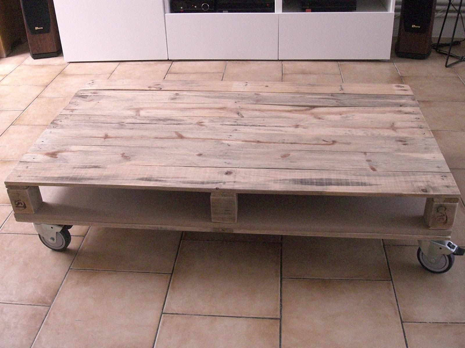 Fabriquer Une Table Basse Avec Une Palette En Bois