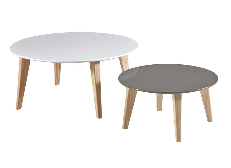Table Basse Gigogne Scandinave Blanche Boutique Gain De Place Fr