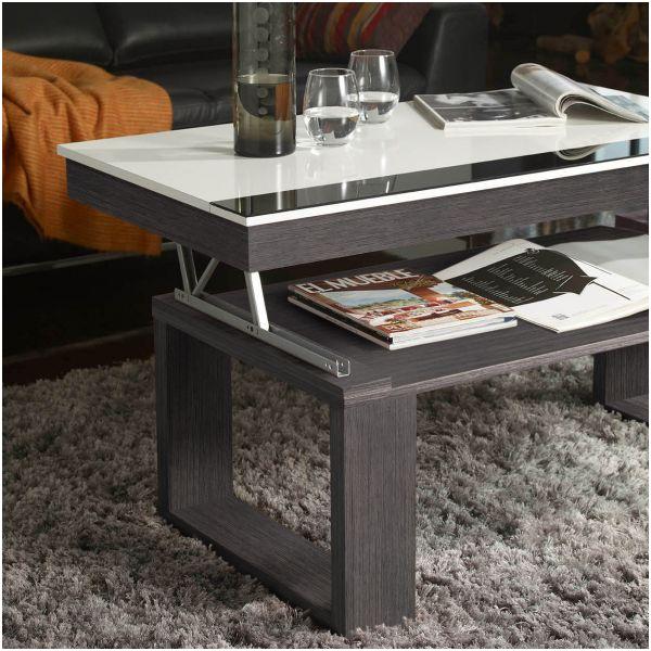 De Boutique Gain Blanc Table Gris Basse Relevable WEH9eYD2Ib