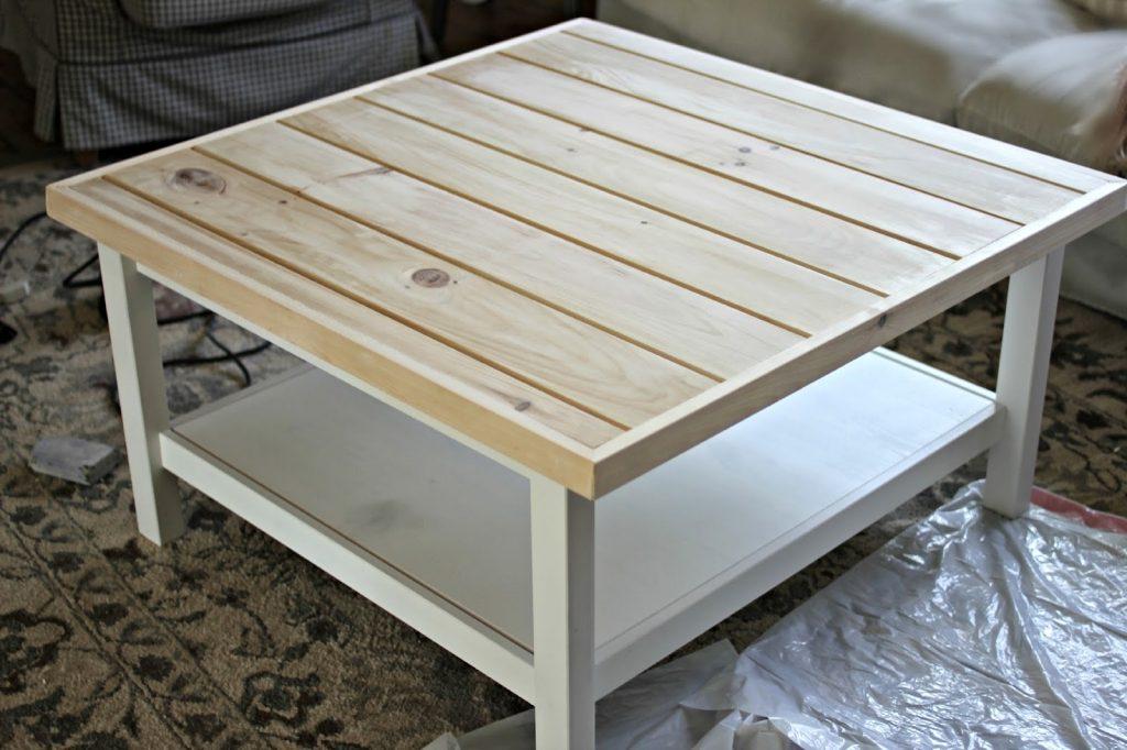 Table Basse Blanche Bois Ikea Boutique Gain De Place Fr