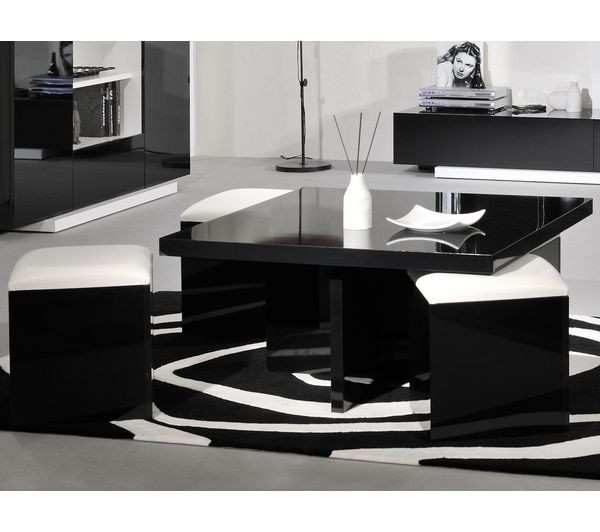 table basse carr e orchis mdf laqu blanc boutique gain de. Black Bedroom Furniture Sets. Home Design Ideas