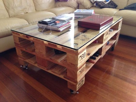 Table Basse Palette A Vendre Boutique Gain De Place Fr