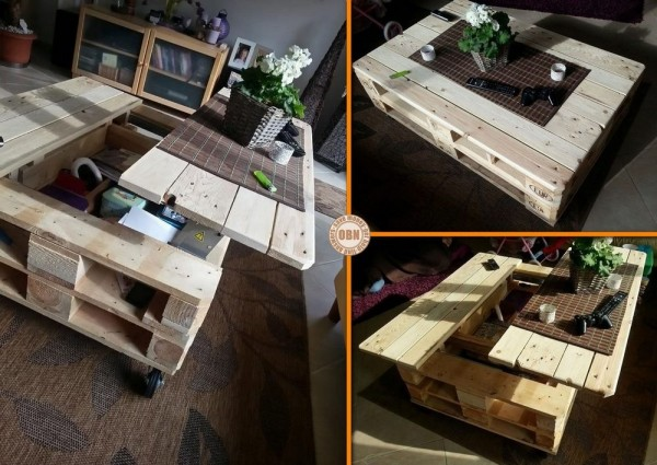 Table basse jardin en palette - Boutique-gain-de-place.fr