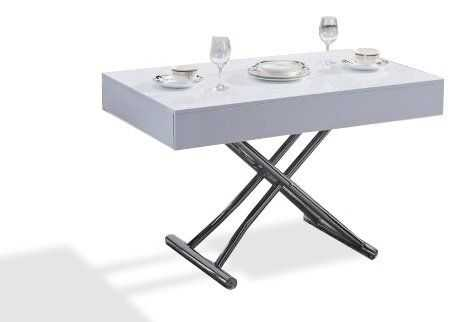 ce226f06380a8 Table basse plateau relevable hampton blanc - Boutique-gain-de-place.fr