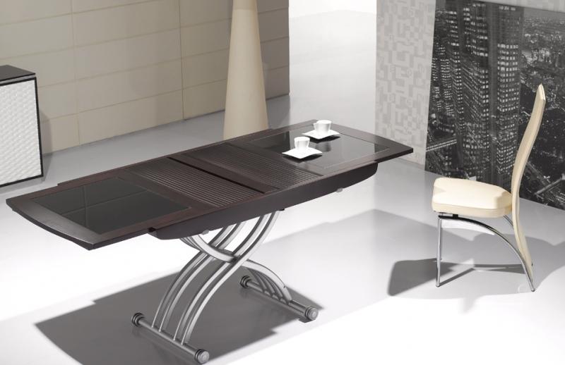 Table Basse Relevable Avec Rallonge Verre Boutique Gain De