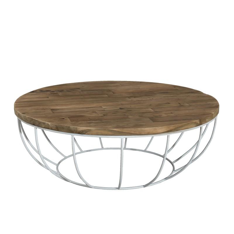 Table basse ronde en fer